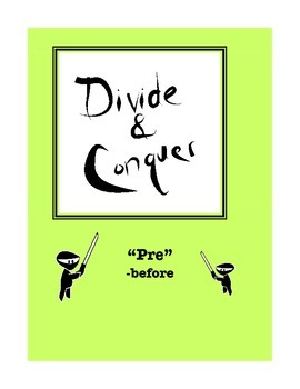 "Word Study: ""Divide and Conquer"" Packet ""Pre"""