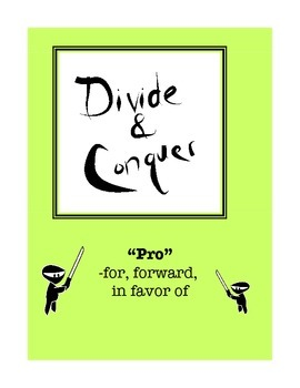 "Word Study: ""Divide and Conquer"" Packet ""Pro"""