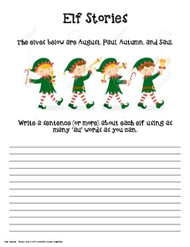 Holiday Word Study - Elf Stories