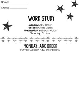 Word Study FREEBIE
