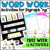 "Words Their Way Activities- Digraph ""ng"" FREE"