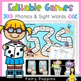 Editable Games - Sight Words, Phonics, Word Study & Math!
