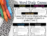 Word Study Games: Spelling, Phonics Patterns & Sight Words for Grades 2-3