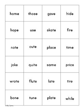 Word Study Games for Long Vowel Patterns