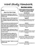 Word Study HW page Word Journeys Words  Their Way