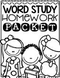 Word Study Homework