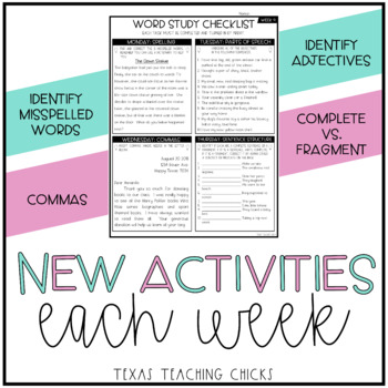 Word Study Homework 2nd edition
