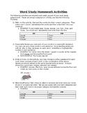 Word Study Homework Activities
