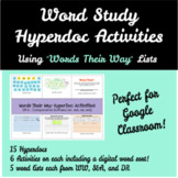 Word Study HyperDoc Activities