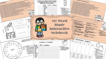 3rd Grade Word Study Interactive Notebook 1 st Quarter
