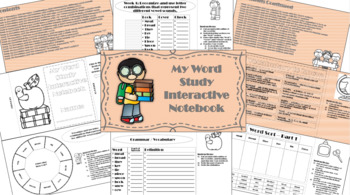 Word Study Interactive Notebook 2nd Quarter