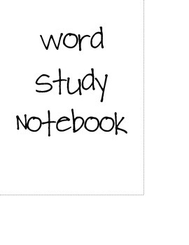 Word Study Interactive Notebook Set-Up
