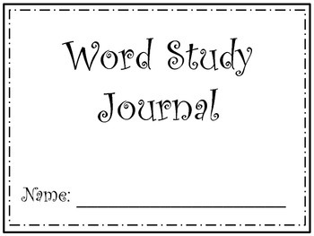 Word Study Journal