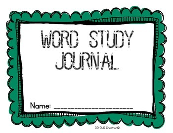 Word Study Journal: English