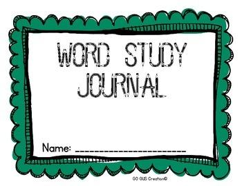 Word Study Journal: {English}{Spanish}