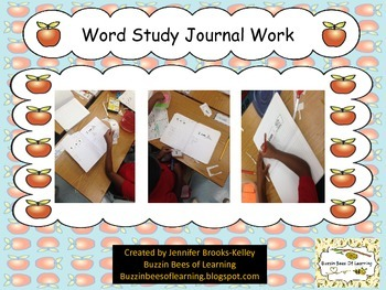 "Word Study Journal Work for ""I can ____."""