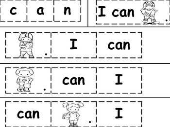 """Word Study Journal Work for """"I can ____."""""""