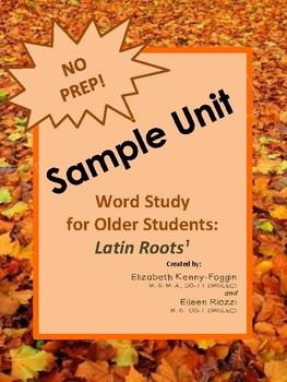 Word Study: Latin Root Unit Sample