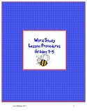 Word Study Lesson Procedures