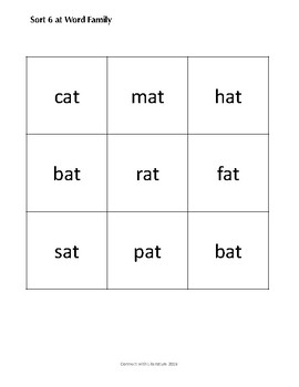 Word Study Letter-Name Sorts 6 - 12