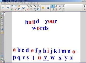 Word Study Letters