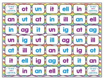 Word Study / Literacy Center - Link 4: Mixed Short Vowel Word Families
