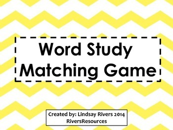 Word Study Matching Game