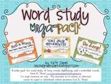 Word Study Mega Pack BUNDLE {Mini-Workbooks, Picture Sort, Roll a Word}