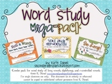 Word Study Mega Pack BUNDLE {Mini-Workbooks, Picture Sort,