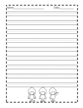 Word Study Menu Cards / With a Duck Theme