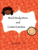 Word Study Menu and Activity Pages