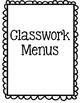 Word Study Menus- Any Grade! Any Words!