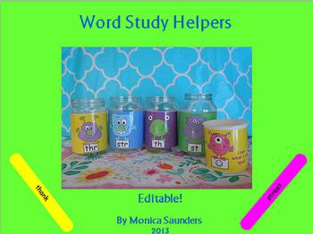 Word Study Monster Helpers