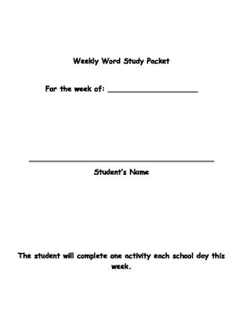 Word Study: Not just for students with Autism