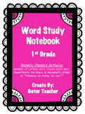 Word Study Notebook for Phonics Skills
