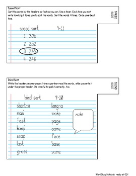 Word Study Notebook ready set GO!