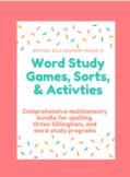 Word Study & Orton Gillingham Spelling Sorts: DIGITAL & Di
