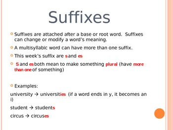Word Study PPT: re, un, s, es