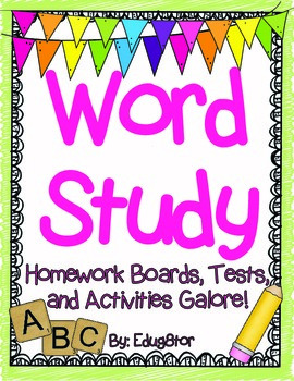 Word Study Pack