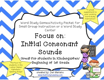 Word Study Packet-Initial Consonant Sounds-CCSS Aligned