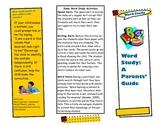 Word Study Parent guide brochure