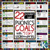 "Word Study & Phonics Reading Goals w/ ""I can"" Statements Poster Set"