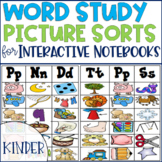 Word Study Picture Sorts for an Interactive Spelling Notebook Kindergarten