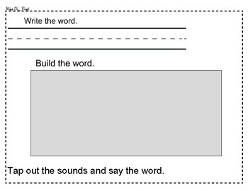 Word Study Placemat