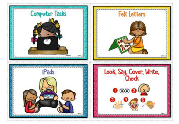 Word Work Posters and Tags