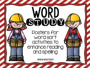 Word Study Posters for Activities to Enhance Spelling