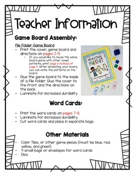 Word Study Pursuit: oo vowel digraph & short u