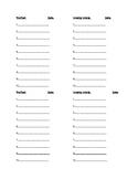 Word Study Recording Sheet