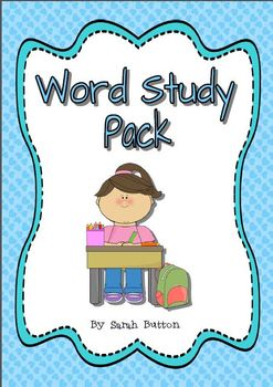 Word Study Resource Pack