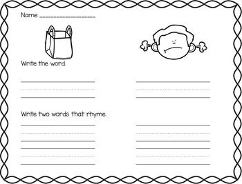 Word Study & Resources - Same Vowel Families